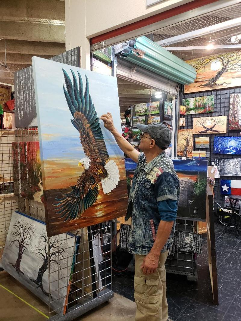 painting eagle
